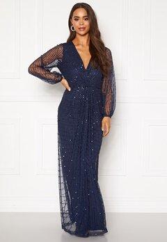 AngelEye Long Sleeve Seqiun Dress Navy Bubbleroom.se