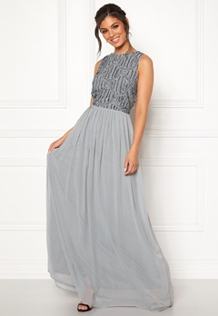 AngelEye Sequin Bodice Maxi Dress Grey Bubbleroom.se
