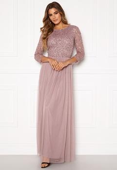 AngelEye Sequin Bodice Maxi Dress Lavender Bubbleroom.se