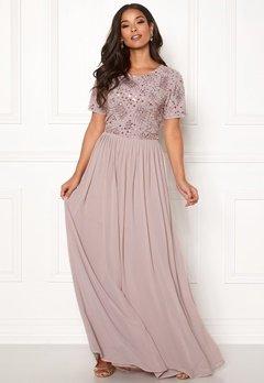 AngelEye Sequin Bodice Maxi Dress Mink Bubbleroom.se