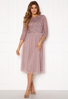 AngelEye Sequin Bodice Mid Dress Lavender Bubbleroom.se
