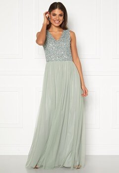 AngelEye Sequin Bodice V-Neck Maxi Dress Lily Bubbleroom.se