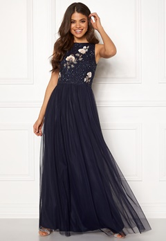 AngelEye Sequin Embroidered Dress Navy Bubbleroom.se