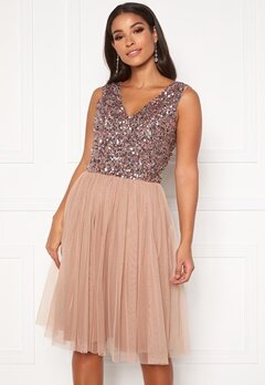 AngelEye Sequin Skater Dress Cameo Rose Bubbleroom.se