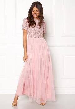 AngelEye Short Sleeve Sequin Dress Pink Bubbleroom.se