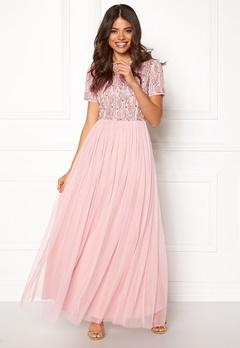 AngelEye Short Sleeve Sequin Dress Pink Bubbleroom.no