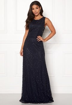 AngelEye Sleeveless Sequin Dress Navy Bubbleroom.se