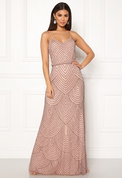 AngelEye Strappy Sequin Maxi Dress Cameo Rose Bubbleroom.se