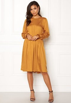 OBJECT Anna L/S Dress Buckthorn Brown Bubbleroom.se