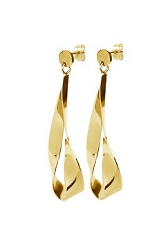 Dyrberg/Kern Arc Shiny Earrings Gold Bubbleroom.se