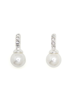SNÖ of Sweden Astrid Earrings White Bubbleroom.se