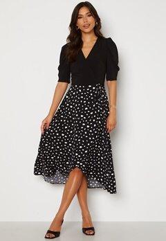 AX Paris 2 For 1 Wrap Front Dress Black Bubbleroom.se