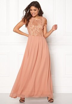 AX Paris 2 in 1 Crochet Maxi Dress Blush Bubbleroom.dk
