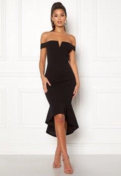 AX Paris Bardot Fishtail Dress Black bubbleroom.se