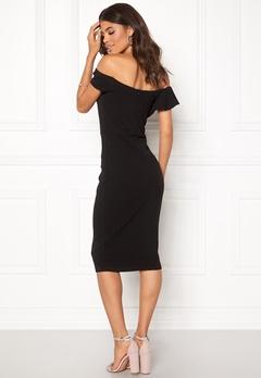 AX Paris Bardot Frill Detail Dress Black Bubbleroom.fi