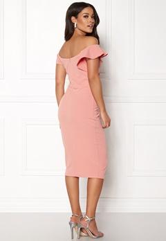 AX Paris Bardot Frill Detail Dress Blush Bubbleroom.fi
