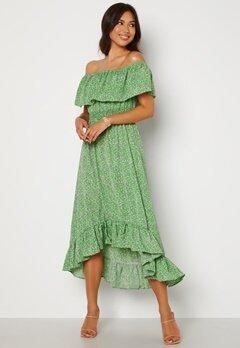 AX Paris Bardot Frill Midaxi Dress Green Bubbleroom.se