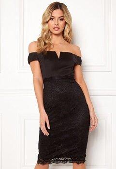 AX Paris Bardot Lace Midi Dress Black Bubbleroom.se