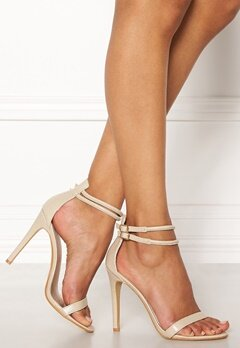 AX Paris Barely There Sandals Nude Snakeskin Bubbleroom.se