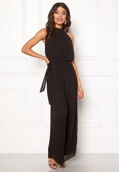 AX Paris Blouson Pleated Jumpsuit Black Bubbleroom.se