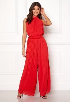 AX Paris Blouson Pleated Jumpsuit Red Bubbleroom.se