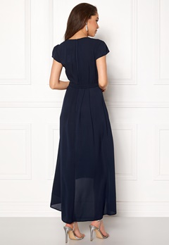 AX Paris Cap Waterfall Dress Navy Bubbleroom.se