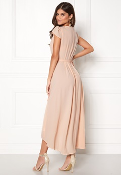 AX Paris Cap Waterfall Dress Nude Bubbleroom.se