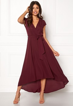 AX Paris Cap Waterfall Dress Plum Bubbleroom.se