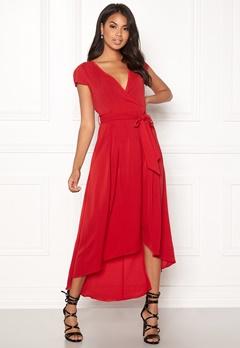 AX Paris Cap Waterfall Dress Red Bubbleroom.se