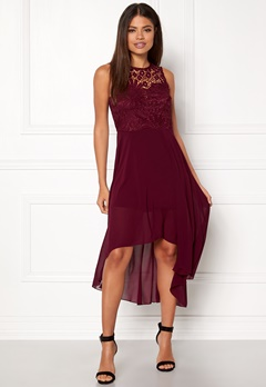 AX Paris Crochet Detail Sleeveless Dress Plum Bubbleroom.se