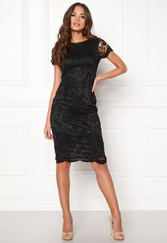 AX Paris Crochet Lace Midi Dress Black Bubbleroom.fi