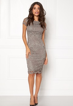AX Paris Crochet Lace Midi Dress Grey Bubbleroom.fi