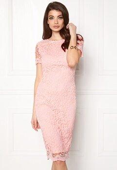 AX Paris Crochet Lace Midi Dress Pink Bubbleroom.no