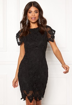 AX Paris Crochet Midi Dress Black Bubbleroom.se