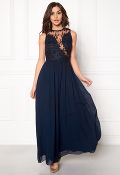 AX Paris Crochet Top Maxi Dress Navy Bubbleroom.dk