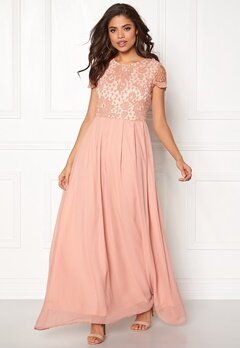 AX Paris Crochet Maxi Dress Blush Bubbleroom.no