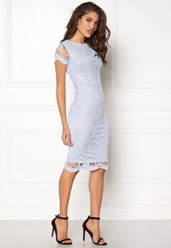 AX Paris Crochet Lace Midi Dress Blue Bubbleroom.se