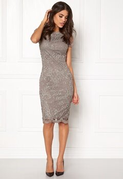 AX Paris Crochet Lace Midi Dress Grey Bubbleroom.dk