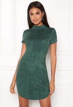 AX Paris Faux Suede Mini Dress Green Bubbleroom.se