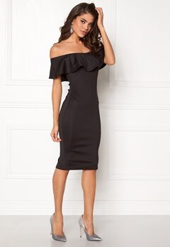 AX Paris Off the Shoulder Dress Black Bubbleroom.dk