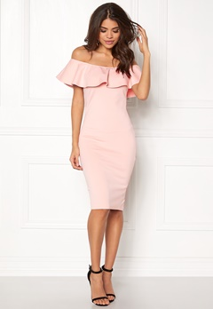 AX Paris Off the Shoulder Dress Pink Bubbleroom.fi