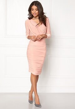 AX Paris V Front Slinky Midi Dress Champagne Bubbleroom.se