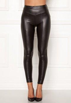 AX Paris Faux Leather PU Leggings Black Bubbleroom.se