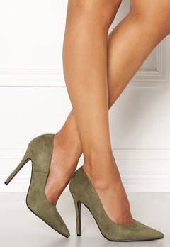 AX Paris Faux Suede Courts Khaki Suede Bubbleroom.no