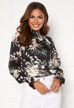 AX Paris Floral High neck blouse Black Bubbleroom.se