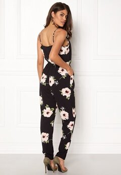 AX Paris Floral Print Jumpsuit Black Bubbleroom.no