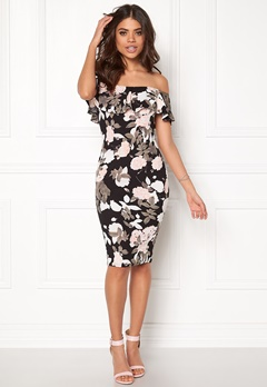 AX Paris Frill Bodycon Dress Multi Bubbleroom.dk