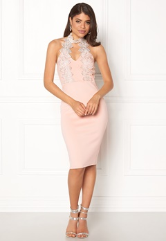 AX Paris Halterneck Choker Dress Pink Bubbleroom.no