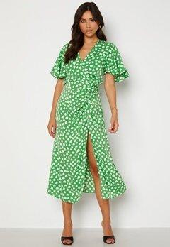 AX Paris Heart Print Midi Dress Green Bubbleroom.se