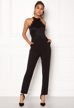 AX Paris High Neck Bodice Jumpsuit Black Bubbleroom.no